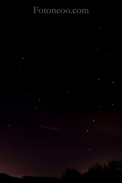estrella fugaz meteorito