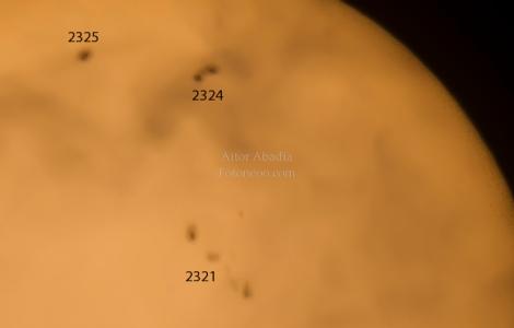 A la caza de manchas Solares, Zoom 400%