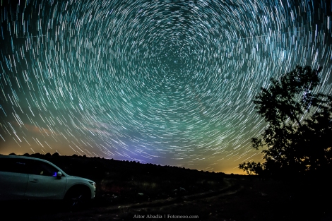Airglow startrail