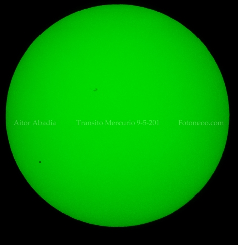 Transito mercurio, prisma herschel